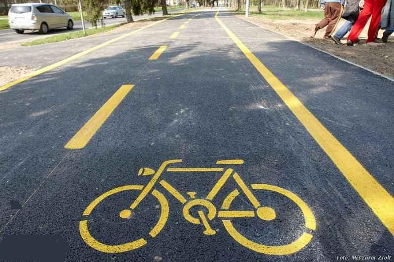 kerékpárút illusztráció