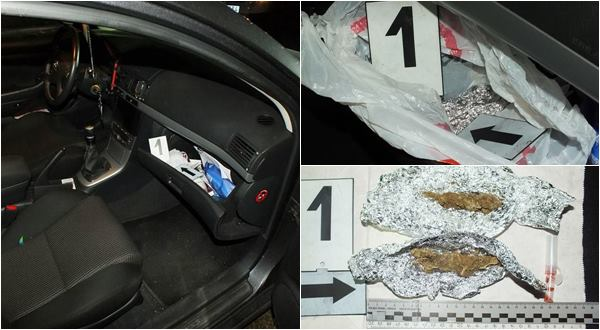 Drogot találtak a rendőrök a paposi férfi autójában az M3-as kivezetőjénél